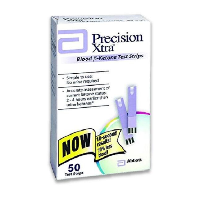 Freestyle Precision Xtra Ketosistools 100 pack blood ketone strip beta hydroxybutyrate